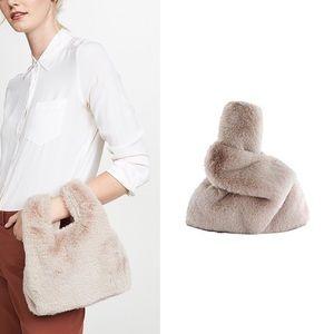 GAP Mini Faux Fur Shopper Blush